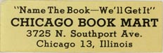 Chicago Book Mart, Chicago, Illinois (approx 38mm x 12mm)