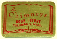 The Chimneys Book Store, Columbus, Mississippi (38mm x 25mm)