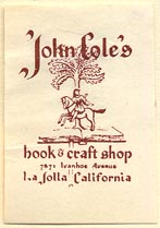 John Cole's Book & Craft Shop, La Jolla, California (24mm x 34mm)