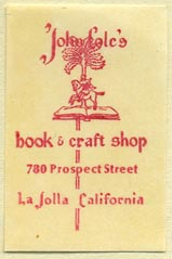 John Cole's Book & Craft Shop, La Jolla, California (25mm x 38mm)