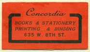 Concordia Books & Stationery, Printing & Binding (30mm x 17mm). Courtesy of Donald Francis.