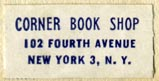 Corner Book Shop, New York, NY (26mm x 13mm)