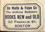 DeWolfe & Fiske Co./ The Archway Bookstore, Boston (29mm x 20mm)