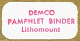 Demco [library suppliers], Madison, Wisconsin (26mm x 13mm). Courtesy of R. Behra.