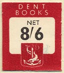 Dent Books - J.M. Dent and Sons, London, England (20mm x 23mm)
