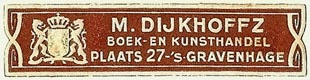 M. Dijkhoffz, Boek- en Kunsthandel, The Hague, Netherlands (51mm x 11mm). Courtesy of S. Loreck.