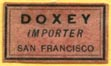 Doxey, Importer, San Francisco, California (17mm x 9mm)