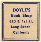Doyle's Book Shop, Long Beach, California (26mm x 26mm)