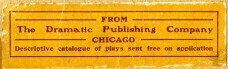 The Dramatic Publishing Co., Chicago, Illinois (76mm x 23mm)