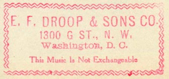 E.F. Droop & Sons, Washington, DC (inkstamp, 54mm x 25mm)