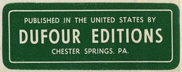 Dufour Editions, Chester Springs, Pennsylvania (60mm x 22mm, ca.1960)