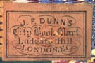 J.F. Dunn's City Book Mart, Ludgate Hill, London (21mm x 14mm)
