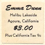 Emma Dunn, Agoura, California (25mm x 25mm)