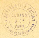 A. Durand & fils, Paris, France (inkstamp, 21mm dia.)