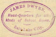 James Dwyer, Salt Lake City, Utah (31mm x 20mm, ca.1880s)