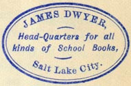 James Dwyer, Salt Lake City, Utah (31mm x 20mm, ca.1880s). Courtesy of Robert Behra.