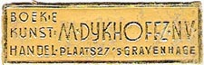 M. Dykhoffz, Boek & Kunsthandel, The Hague, Netherlands (36mm x 11mm, after 1935)
