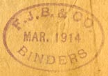 F.J.B. & Co., Binders (25mm x 17mm, ca.1914). Courtesy of Robert Behra.