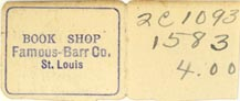 Famous-Barr [dept store], St. Louis, Missouri (36mm x 15mm). Courtesy of J.C. & P.C. Dast.