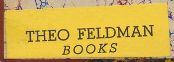 Theo Feldman Books, New York, NY (55mm x 18mm, ca.1940s-50s).