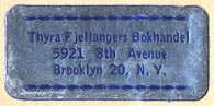 Thyra Fjellanger, Brooklyn, New York (32mm x 14mm, ca.1950s?).