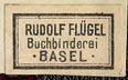 Rudolf Fluegel [1897-1982], Buchbinderei, Basel, Switzerland (18mm x 10mm, before 1950).