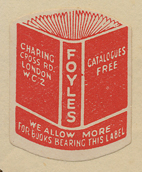 Foyles, London, England (20mm x 26mm, ca.1933).
