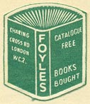 Foyles, London, England (23mm x 19mm, ca.1958).
