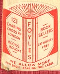 Foyles, London, England (19mm x 24mm, ca.1924).
