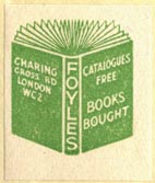 Foyles, London, England (23mm x 27mm, ca.1946?). Courtesy of Robert Behra.