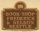 Frederick & Nelson Book Shop, Seattle, Washington (21mm x 17mm, ca.1924).