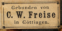 C.W. Freise [binder], Gottingen, Germany (ca.1855).