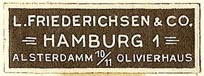 L. Friederichsen, Hamburg, Germany (33mm x 11mm). Courtesy of S. Loreck.