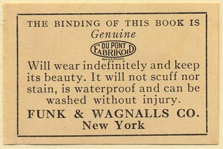 Funk & Wagnalls, New York, NY (52mm x 35mm). Courtesy of Donald Francis.