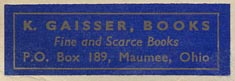 K. Gaisser, Books, Maumee, Ohio