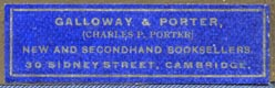 Galloway & Porter, Cambridge, England (40mm x 12mm)