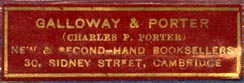 Galloway & Porter, Cambridge, England (41mm x 13mm)