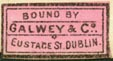 Galwey & Co., Dublin, Ireland (19mm x 10mm, ca.1904)
