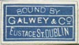 Galwey & Co., Dublin, Ireland (19mm x 11mm, ca.1933)