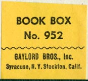 Gaylord Bros., Pamphlet Binders, Syracuse, NY and Stockton, California (29mm x 27mm)