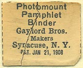 Gaylord Bros., Stockton, California (27mm x 23mm). Courtesy of Donald Francis