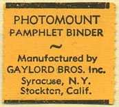 Gaylord Bros., Stockton, California (27mm x 25mm). Courtesy of Donald Francis