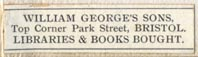 William George's Sons, Bristol, England (32mm x 8mm)