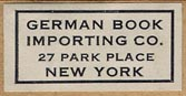 German Book Importing Co., New York (26mm x 14mm)