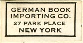 German Book Importing Co., New York, NY (28mm x 15mm, ca.1938)