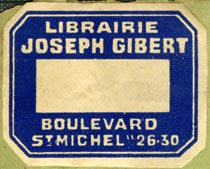 Librairire Joseph Gibert, Paris, France (35mm x 28mm, ca.1940s or 50s?). Courtesy of Robert Behra.