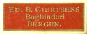 Ed. B. Giertsen, Bergen, Norway (20mm x 6mm, ca.1897)