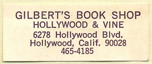 Gilbert's Book Shop, Hollywood, California (50mm x 20mm)
