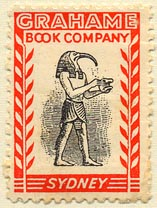 Grahame Book Company, Sydney, Australia (24mm x 34mm). Courtesy of Donald Francis.