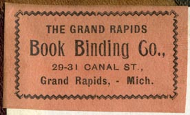The Grand Rapids Book Binding Co., Grand Rapids, Michigan (45mm x 27mm)